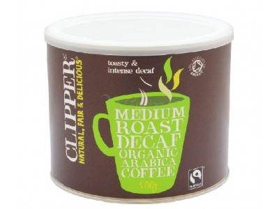 Clipper Fairtrade Decaff Instant Coffee X 500G Tin