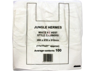 White Vest Carrier Bags