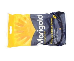 6 X Marigold Extra Life Rubber Gloves Small