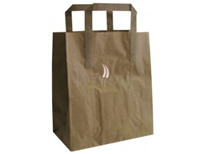 250 X Brown Sos Carrier Bag