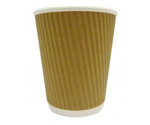 500 X 8 Oz Ripple Kraft Paper Cups
