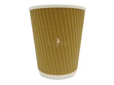 12 Oz Ripple Kraft Cups X 500