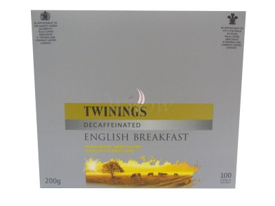 Twinings English Decaffinated 100 X String & Tag
